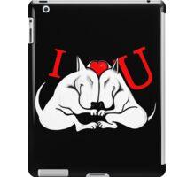 English Bull Terrier Valentines Day Design iPad Case/Skin