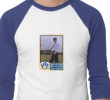 Peter Gibbons Baseball Card Men's Baseball ¾ T-Shirt
