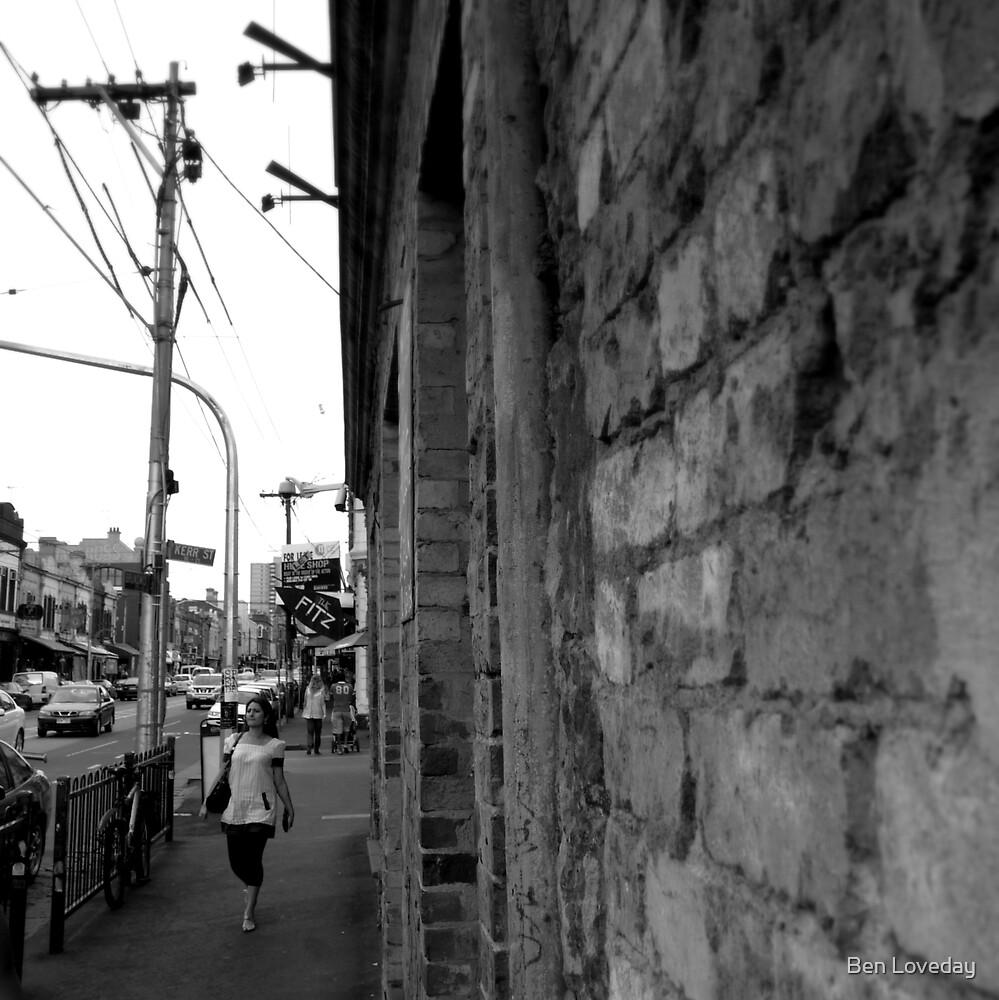 Somewhere in Brunswick Street. by Ben Loveday