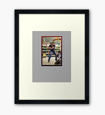 Tallahasee Baseball Card Framed Print