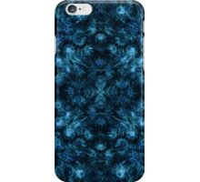 Winter textiles- Blue ice seeds iPhone Case/Skin