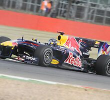 Sebastian Vettel - Red Bull RB6 - Silverstone 2010 by MSport-Images