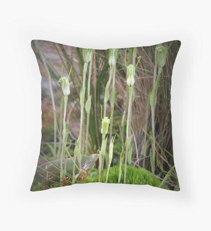 Dwarf Greenhoods Throw Pillow