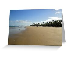 Mission Beach with Cyclist Greeting Card