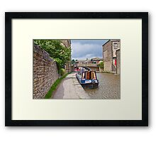 Skipton Canal Framed Print