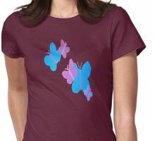 Colorful Butterfly Collage Womens Fitted T-Shirt