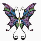 Butterfly tattoo design by Sean Cuddy