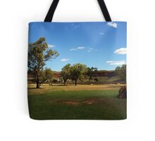 Rural scene along the Victoria Highway Tote Bag