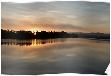 Golden Liquid Dawn ~ Johnstone River, Innisfail by Kerryn Madsen-Pietsch
