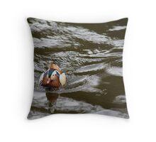 Mandarin Drake River Dee LLangollen Throw Pillow