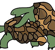 Ninja Turtle Galapagos making love eggs by SofiaYoushi