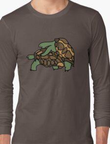 Ninja Turtle Galapagos making love eggs Long Sleeve T-Shirt