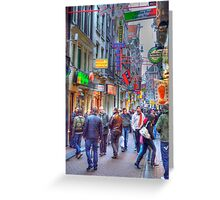 Walking the Red Light Greeting Card