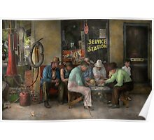 Gas Station - Playing checkers togther 1939 Poster