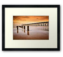 The Old Piers, North Sands, Hartlepool. UK Framed Print