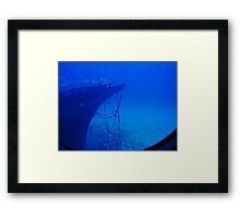 Sunken Ship Framed Print