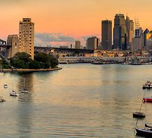 Berry's Bay Sunset - Berrys Bay, Sydney Harbour (40 Exposure HDR Panorama) - The HDR Experience by Philip Johnson