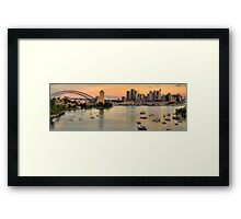 Berry's Bay Sunset - Berrys Bay, Sydney Harbour (40 Exposure HDR Panorama) - The HDR Experience Framed Print