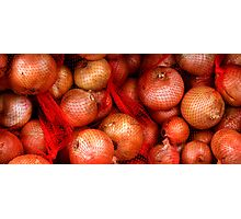 Brown Onions Photographic Print