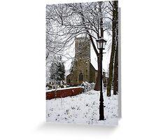 Kirk Bramwith Church in Winter Greeting Card