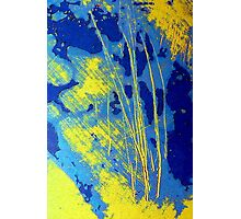 Abstract in Blue and Yellow Photographic Print