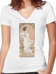Leia Nouveau Women's Fitted V-Neck T-Shirt