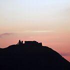 Dinas Bran castle sunset by vonniepyn