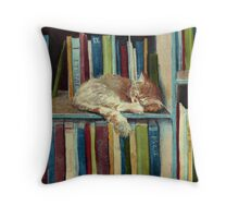 Quite Well Read Throw Pillow