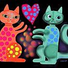 Pussicats friends by Karin Zeller