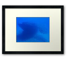 Fish and a Sunken Ship Framed Print