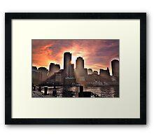 Ray of Sun, Boston, MA Framed Print