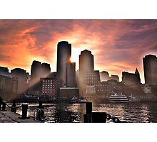 Ray of Sun, Boston, MA Photographic Print