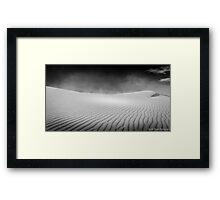White Sands Desolation Framed Print