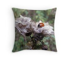 A Ladybird's day out Throw Pillow