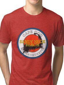 Sandy Neck Beach - Cape Cod Massachusetts Tri-blend T-Shirt