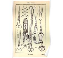 A Handbook Of Ornament With Three Hundred Plates Franz Sales Meyer 1896 0421 Metal Objects Scissors Poster