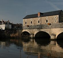 Bridge Over Beuvon River, Cellettes, France 2012 by muz2142