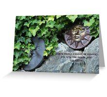 Moon & Sun  - Buddha quote Greeting Card