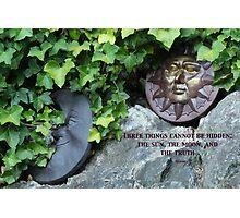 Moon & Sun  - Buddha quote Photographic Print