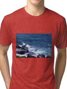 Waves on the Rocks Tri-blend T-Shirt