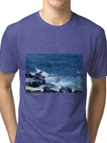 Waves on the Rocks Tri-blend T-Shirt