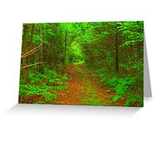 Down the Road, Down the Road, I Go (Unframed) Greeting Card