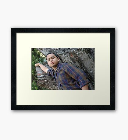 young adult Framed Print