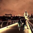 Millennium Bridge Walk Night by Paul Revans