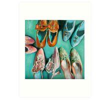 Marie's shoes Art Print