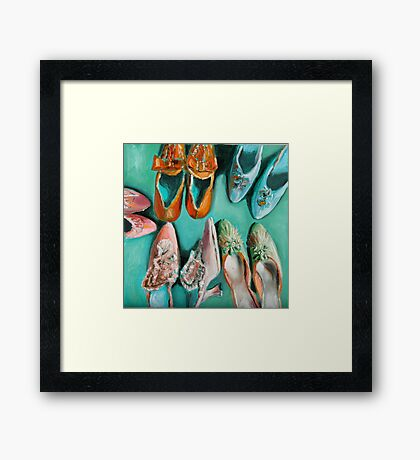 Marie's shoes Framed Print