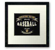Vintage Baseball Framed Print