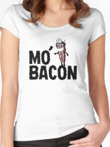 MO' BACON on lights Women's Fitted Scoop T-Shirt