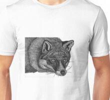 Fox Hand Drawing in Pen Unisex T-Shirt