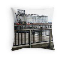 Buffalo Harbor Monumental, Lake Erie Throw Pillow